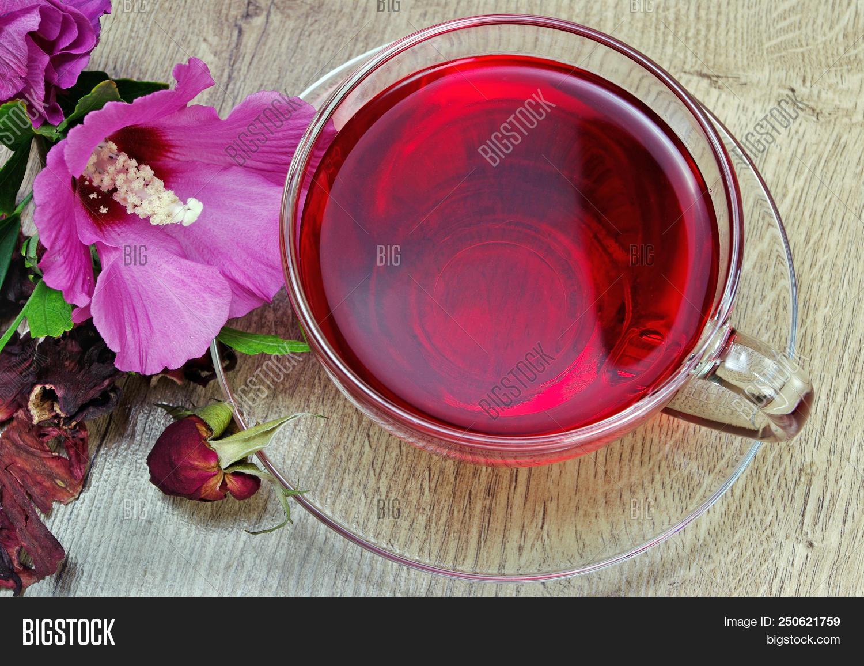 Hibiscus Tea Glass Cup Image Photo Free Trial Bigstock