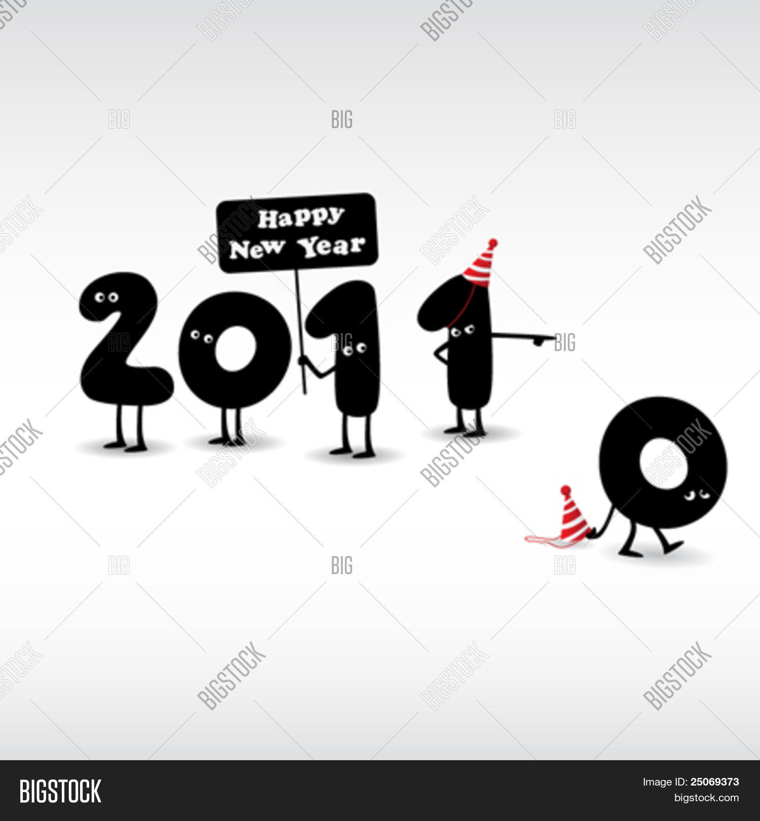 Funny New Year\'s Eve Vector & Photo (Free Trial) | Bigstock