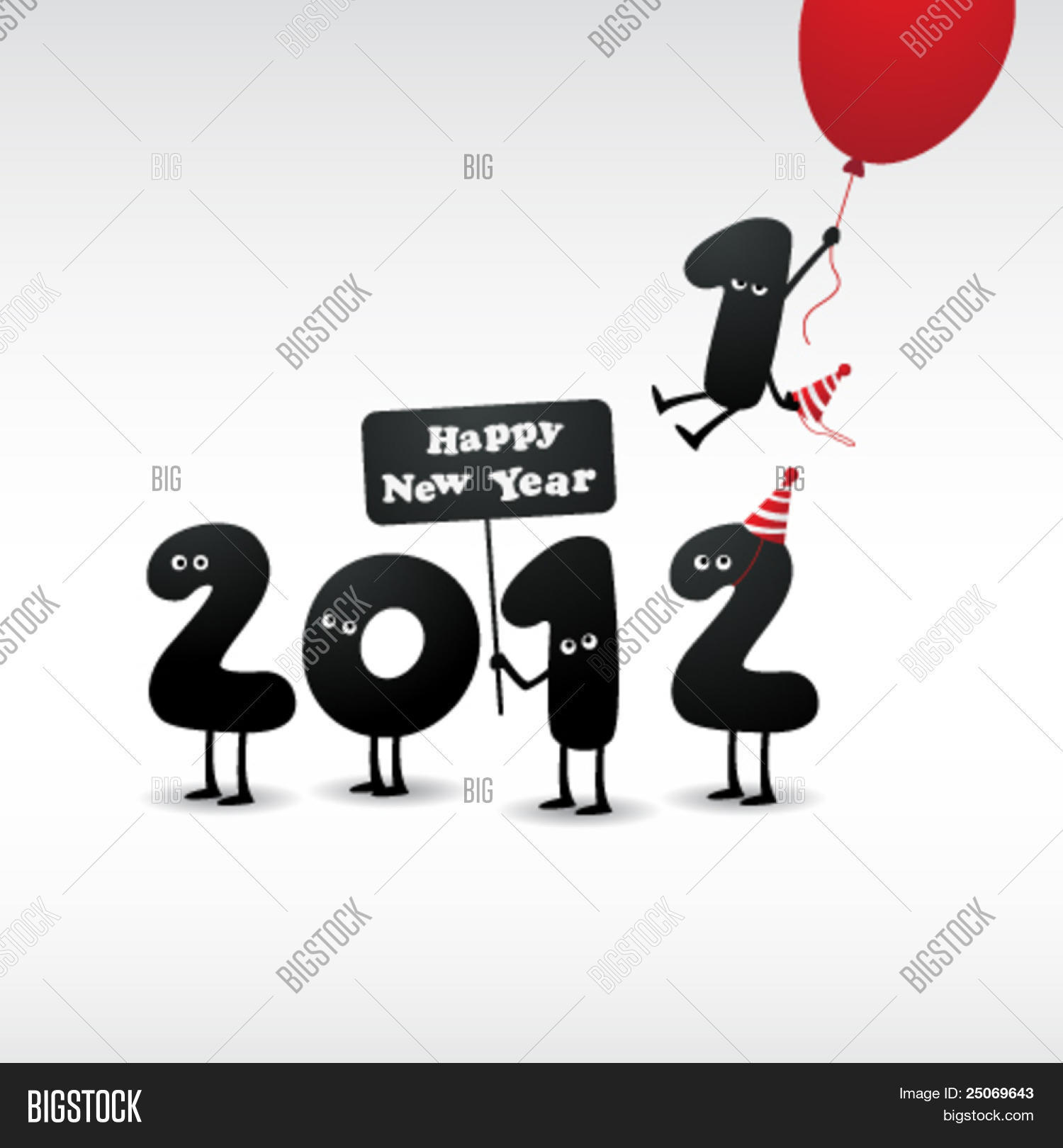 Funny 2012 New Year\'s Vector & Photo (Free Trial) | Bigstock