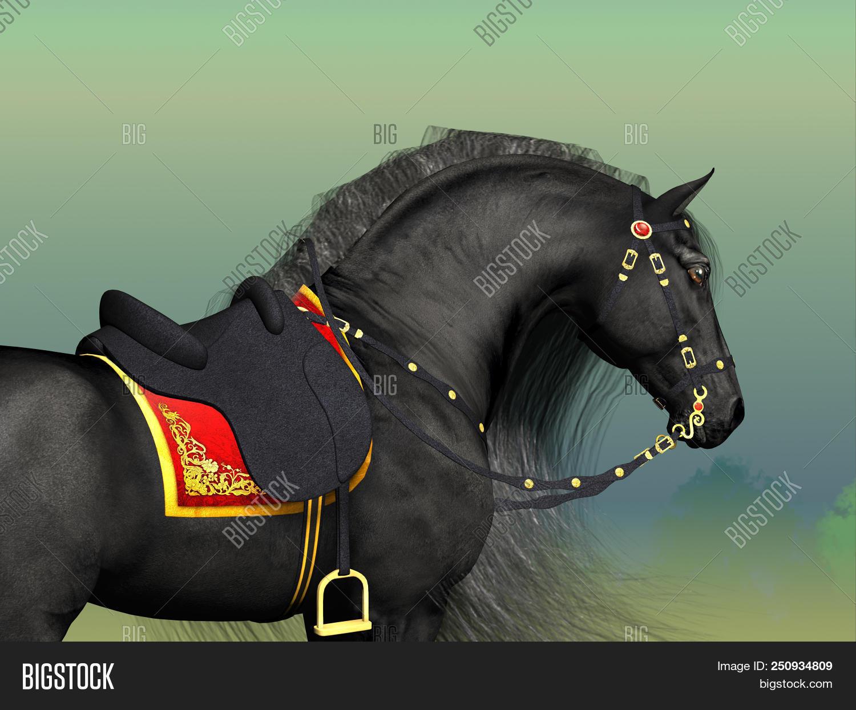 Dark Horse 3d Image Photo Free Trial Bigstock