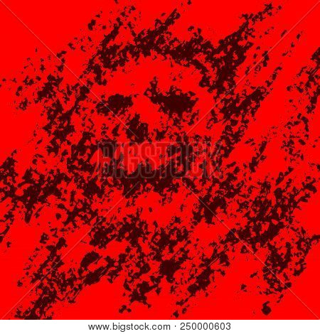 Scary Skull Abstraction From Debris And Dots. Vector Illustration. Genre Of Horror. Scary Character