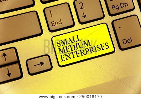 Conceptual Hand Writing Showing Small Medium Enterprises. Business Photo Showcasing Companies With L