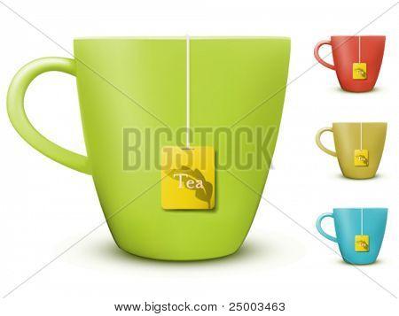 taza de vector de ilustración de té
