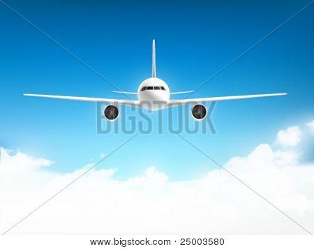 Vektor-Flugzeug-illustration