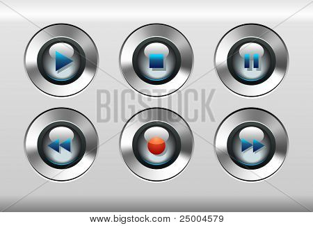 Music Player Buttons