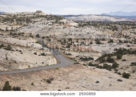 No traffic Road in Grand Staircase-Escalante National Monument poster