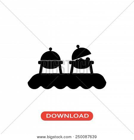 Buffet Vector Icon Flat Style Illustration For Web, Mobile, Logo, Application And Graphic Design. Bu