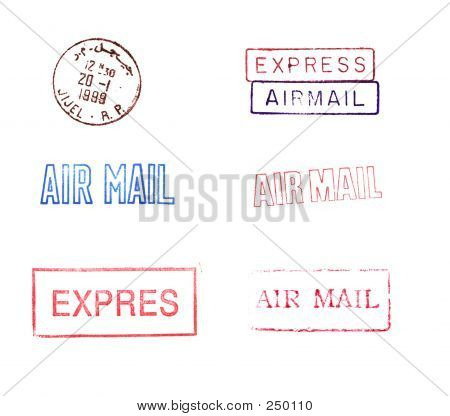 Rubber Mail Stamps