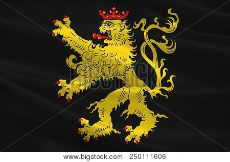 Flag Of Neustadt Is A Town Located In Rhineland-palatinate, Germany. 3d Illustration