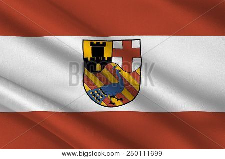 Flag Of Neuwied Is A Town In The North Of The German State Of Rhineland-palatinate, Capital Of The D