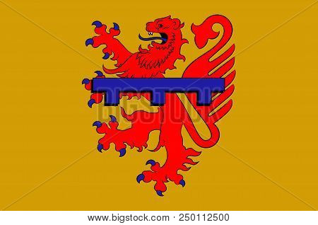 Flag Of Zweibruecken Is A Town In Rhineland-palatinate, Germany. 3d Illustration
