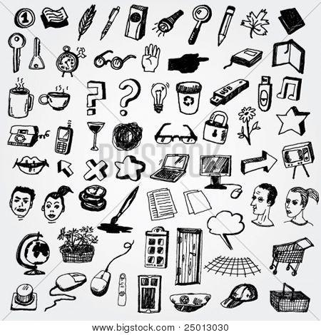 Big Set of Cute Internet Icons