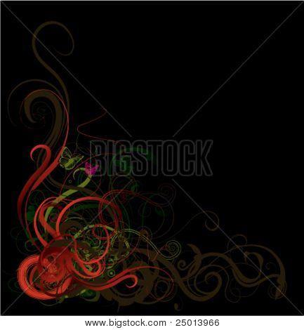 floral background-vector