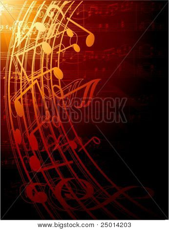 musical notes -vector illustration