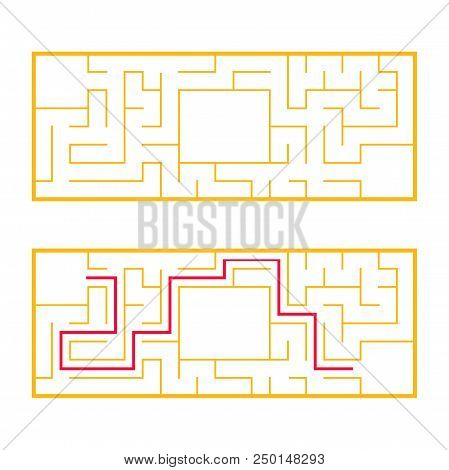 Rectangular Labyrinth Vector & Photo (Free Trial) | Bigstock