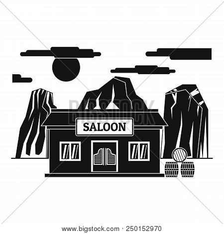 Western saloon icon. Simple illustration of western saloon vector icon for web design isolated on white background poster