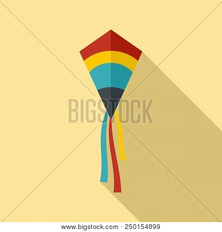 Classic Kite Icon. Flat Illustration Of Classic Kite Vector Icon For Web Design