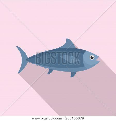Tuna Fish Icon. Flat Illustration Of Tuna Fish Vector Icon For Web Design