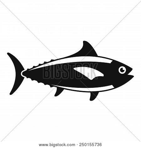 Tuna Fish Icon. Simple Illustration Of Tuna Fish Vector Icon For Web Design Isolated On White Backgr