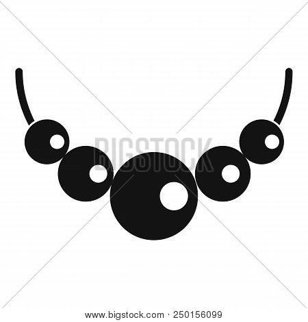 Pearls Icon. Simple Illustration Of Pearls Vector Icon For Web Design Isolated On White Background
