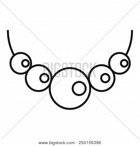 Pearls Icon. Outline Pearls Vector Icon For Web Design Isolated On White Background