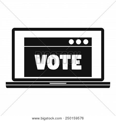 Online Vote Icon. Simple Illustration Of Online Vote Vector Icon For Web Design Isolated On White Ba