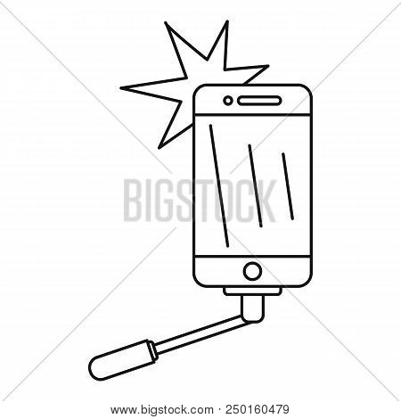 Take Selfie Icon. Outline Take Selfie Vector Icon For Web Design Isolated On White Background
