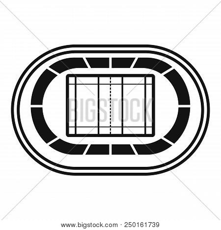 Top Volleyball Arena Icon. Simple Illustration Of Top Volleyball Arena Vector Icon For Web Design Is