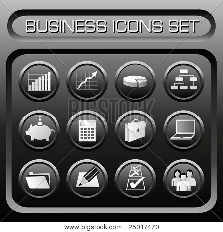 Business Icons Set - VECTOR. (Check out my portfolio for other icons set)