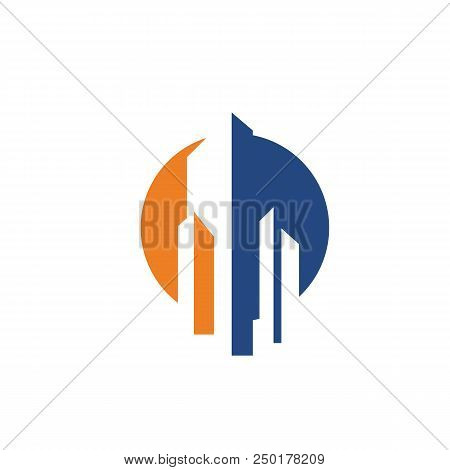 Abstract Design, Modern Style Design Concepts With Basic Colors, Logo Development Symbols And Urban