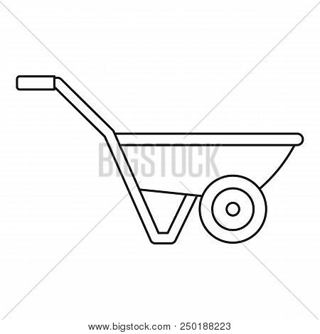 Hand Truck One Wheel Icon. Outline Hand Truck One Wheel Vector Icon For Web Design Isolated On White