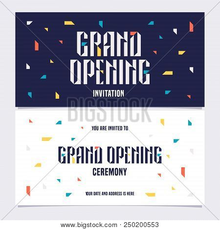 Grand Opening Vector Vector Photo Free Trial Bigstock