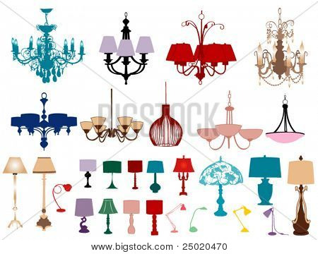 Chandeliers and lamps