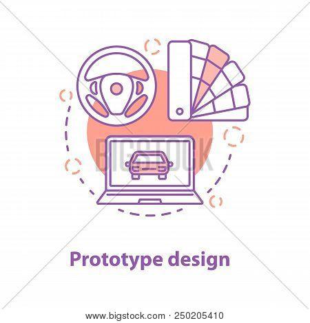 Prototype Design Concept Icon. Choosing Appropriate Option Idea Thin Line Illustration. Vector Isola