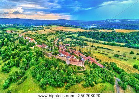 Chateau De Belvoir, A Medieval Castle In The Doubs Department Of The Bourgogne-franche-comte Region