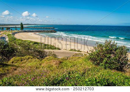 Town Beach In Port Macquarie In The Summer, Australia