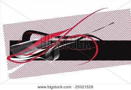 red and black futuristic background. vector illustration