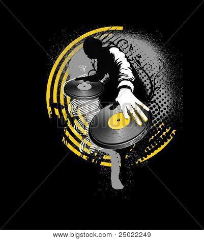 Dj mix - amarillo y negro