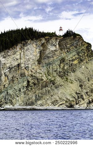 This Lighthouse On The Cliff Is There To Protect Ships From The Cliff