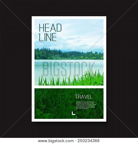 Modern Style Flyer Or Cover Design For Your Business With Riverside Image - Applicable For Reports,