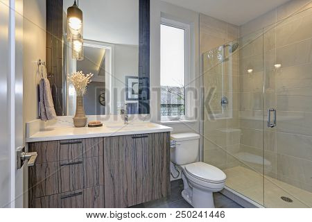 New Luxury Bathroom In Grey Tones