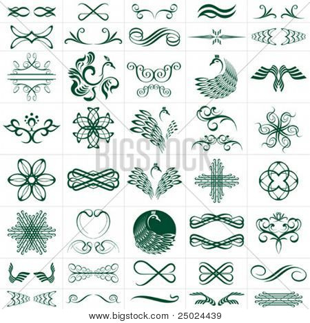 vector file of design elements, more than 30 designs