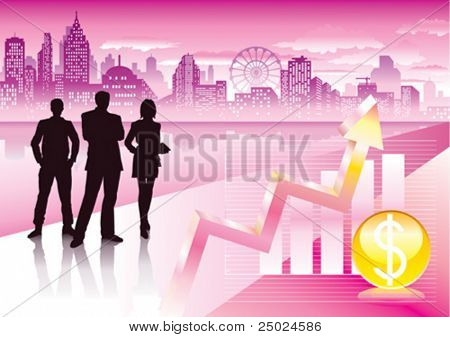 vector file of urban commercial and graph