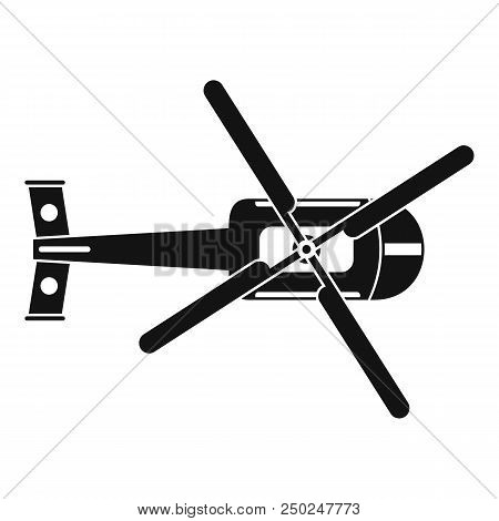 Top View Helicopter Icon. Simple Illustration Of Top View Helicopter Vector Icon For Web Design Isol