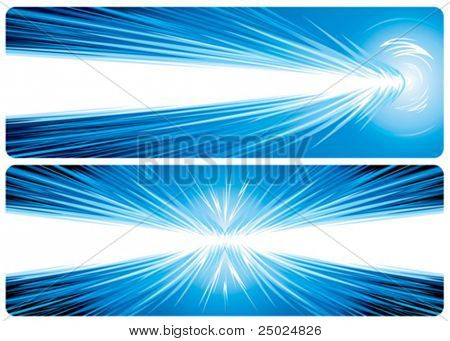 Power Hit. Banner design of powerful concept, vector illustration layered file.