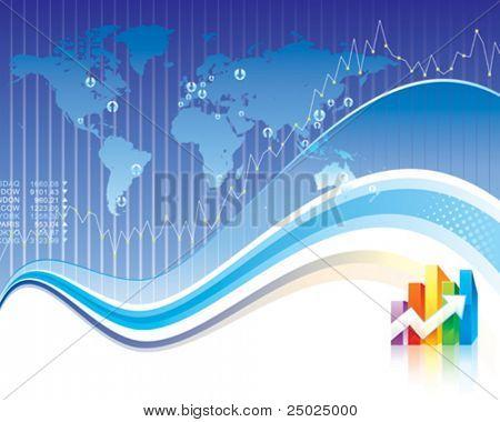 Global Finance design of vector illustration layered.