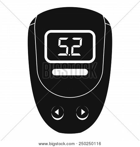 Electronic Glucometer Icon. Simple Illustration Of Electronic Glucometer Vector Icon For Web Design