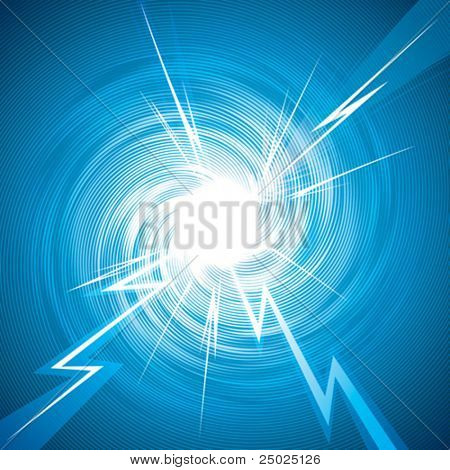 Abstract background of thunderbolt effect. Vector layered.