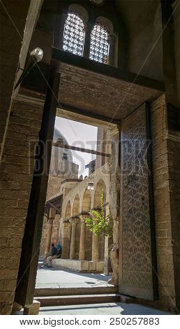 Cairo, Egypt - September 28 2012: Entrance Of Qalawun Complex, A Massive Complex In Cairo, Egypt Tha