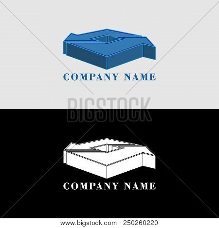 Blue Arrows Volumetric Shapes, 3d Logo And Icon, Abstract Design Object For You Project Or Logotype